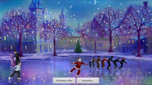 christmas rink live wallpaper samsung galaxy s3 note2 ace